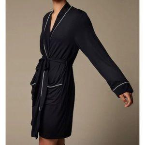 Love & Lore Black Piped Robe